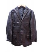 Cinquanta(チンクアンタ)の古着「3Bレザージャケット」|ブラック