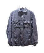 DESIGNWORKS(デザインワークス)の古着「スナップボタンレザージャケット」 ブラック
