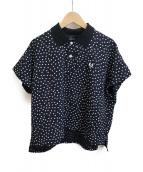 FRED PERRY(フレッドペリ)の古着「ワイドシルエットポロシャツ」|ネイビー