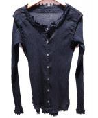 me ISSEY MIYAKE(ミー イッセイ ミヤケ)の古着「シフォン加工シャツ」|ブラック