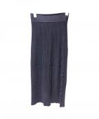 Max Mara(マックスマーラ)の古着「リブスカート」|ブラック