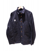 TCB jeans(ティーシービー ジーンズ)の古着「ウオバッシュカバーオール」|ブラック