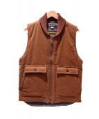 TROPHY CLOTHING(トロフィークロージング)の古着「ベスト」|ブラウン