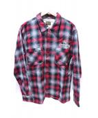 TENDERLOIN(テンダーロイン)の古着「オンブレーシャツ」|レッド×ブラック