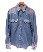 SUGAR CANE(シュガーケーン)の古着「ウエスタンシャツ」|ブルー