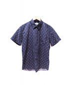 DRIES VAN NOTEN(ドリスバンノッテン)の古着「総柄シャツ」|ネイビー