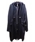 Maison MIHARA YASUHIRO(メゾンミハラヤスヒロ)の古着「ジップアップフーデッドスリッドコート」|ブラック