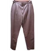 HERMES(エルメス)の古着「ラムスキンレザーパンツ」|ベージュ