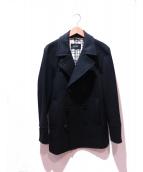 BURBERRY BLACK LABEL(バーバリーブラックレーベル)の古着「Pコート」|ブラック