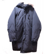 DKNY(ダナキャランニューヨーク)の古着「フーデッドダウンコート」|ブラック