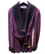 GUCCI(グッチ)の古着「ムートンショートジャケット」|ボルドー