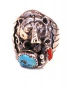 NAVAJO(ナバホ)の古着「ベアシルバーリング」