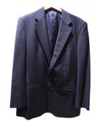 BURBERRY LONDON(バーバリーロンドン)の古着「カシミヤ混セットアップスーツ」|ネイビー