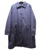 MHL.(エムエイチエル)の古着「ダウンライナー付ステンカラーコート」|ネイビー
