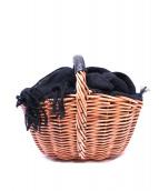 ebagos(エバゴス)の古着「カゴバッグ」|ベージュ×ブラック