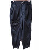 GOLDEN GOOSE(ゴールデングース)の古着「HAUSナイロンパンツ」|ブラック
