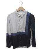 ETHOSENS(エトセンス)の古着「切替シャツ」|グレー×ブラック