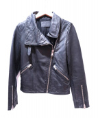 ALL SAINTS(オールセインツ)の古着「LEWIN LEATHER BIKER JACKET」|ブラック