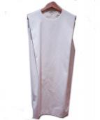 ENFOLD(エンフォルド)の古着「ツイルタックボックスワンピース」|ホワイト