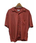 MANUAL ALPHABET(マニュアルアルファベット)の古着「オープンカラーシャツ」|ピンク