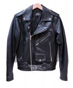 HORN WORKS(ホーンワークス)の古着「ライダースジャケット」|ブラック