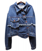 AALTO(アールト)の古着「イレギュラーデニムジャケット」|ブルー
