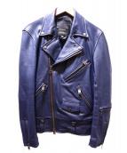JACKROSE(ジャックローズ)の古着「ライダースジャケット」|ネイビー