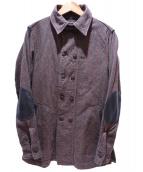 GREMEN&V.E(グレメンアンドビルエイト)の古着「WALT...ウォルト シャツ コート」|ブラウン