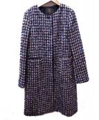 TOCCA(トッカ)の古着「ノーカラーコート」|ピンク×ブラック