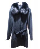VICKY(ビッキー)の古着「ファックスファー付コート」|ブラック