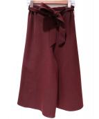 Droite Lautreamont(ドロワットロートレアモン)の古着「フレアワイドパンツ」|ブラウン