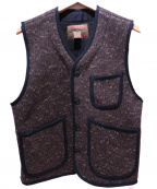 CUSHMAN(クッシュマン)の古着「BEACH CLOTH VEST」|ブラウン×ブラック