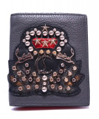 Christian Louboutin(クリスチャンルブタン)の古着「2つ折り財布」|ブラック