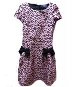 MS GRACY(エムズグレイシー)の古着「ハートプリントブラウスワンピース」|ピンク
