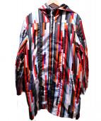 Christopher Kane(クリストファーケイン)の古着「フーデッドコート」|レッド