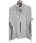 DESCENTE(デサント)の古着「ナイロンストレッチジャケット」|ホワイト