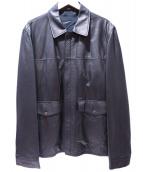 dunhill(ダンヒル)の古着「レザージャケット」|ブラック