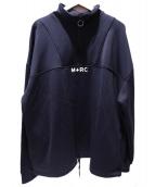 M+RC NOIR(マルシェノア)の古着「ハーフジップスウェット」 ネイビー