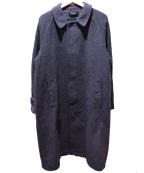 GRENFELL(グレンフェル)の古着「メルトンステンカラーコート」|グレー