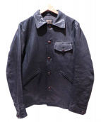 COOTIE(クーティ)の古着「leather field sport jacket」 ブラック
