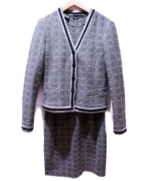 EMPORIO ARMANI(エンポリオアルマーニ)EMPORIO ARMANI (エンポリオアルマーニ) セットアップワンピース グレー サイズ:1 チェックの古着・服飾アイテム
