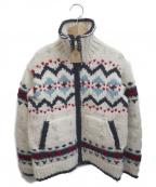 CANADIAN SWEATER(カナディアンセーター)の古着「カウチンニットカーディガン」|ベージュ