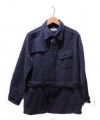 JAPAN BLUE(ジャパンブルー)の古着「12oz ツィードデニムサファリジャケット」 インディゴ