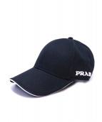 PRADA(プラダ)の古着「キャップ」 ブラック