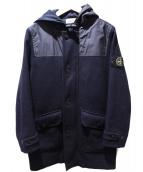STONE ISLAND(ストーンアイランド)の古着「フーデッドコート」|ブラック