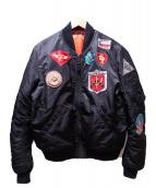 AVIREX(アビレックス)の古着「FAR EAST CRUISE MA-1」|ブラック