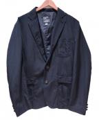 Mt. Rainier Design()の古着「リップストップナイロンテーラードジャケット」|ブラック
