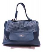 FURLA(フルラ)の古着「パンチングカプリッチョショルダーバッグ」|ブルー
