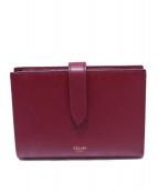 CELINE(セリーヌ)の古着「ストラップ二つ折り財布」|ボルドー