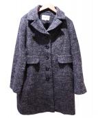 HANAE MORI(ハナエモリ)の古着「ウールコート」|グレー
